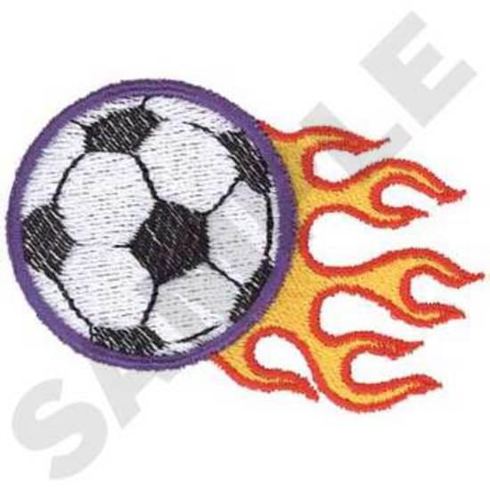 Soccer Ball W/ Flames
