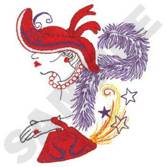 Hat Lady W/ Stars