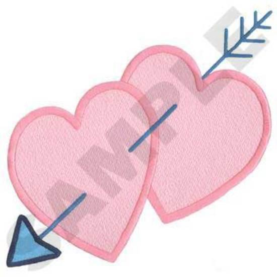 Hearts W/ Arrow Background