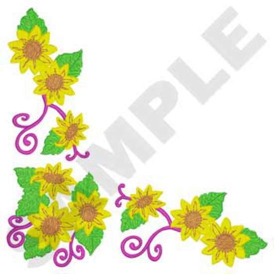 Napkin Sunflower Corner