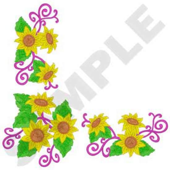 Tablecloth Sunflower Corner