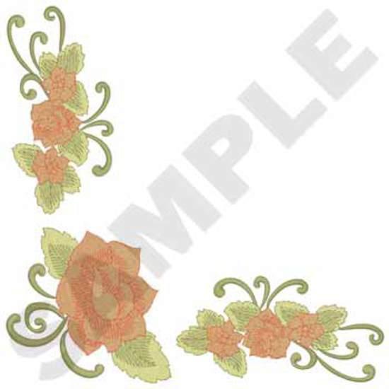 Tablecloth Rose Corner