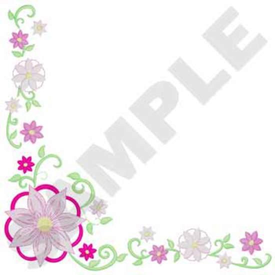 Tablecloth Flower Corner
