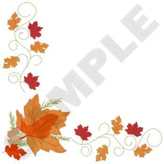 Tablecloth Leaf Corner