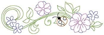 Flowers & Ladybug Border