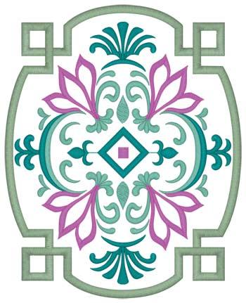 Floral Moroccan Pattern Applique
