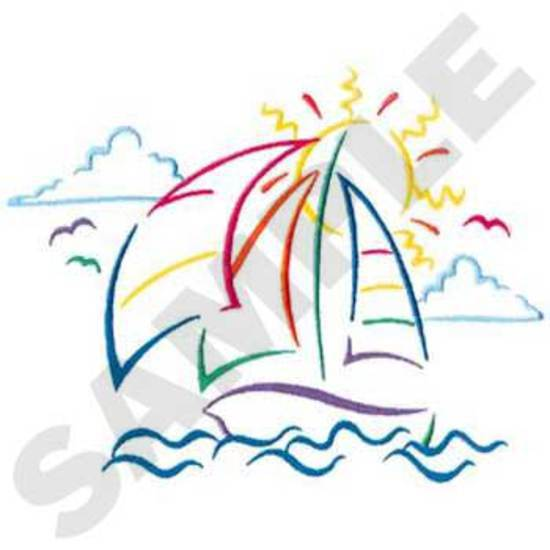 Sm. Sailboat Outline