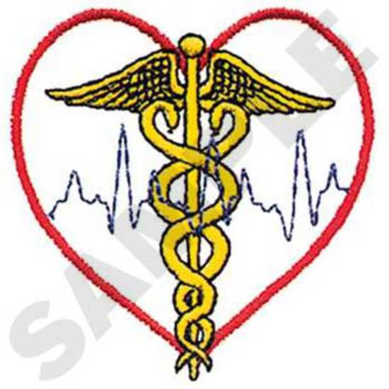 Caduceus W/heart