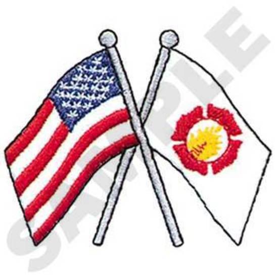 Flags W/ Fire Logo