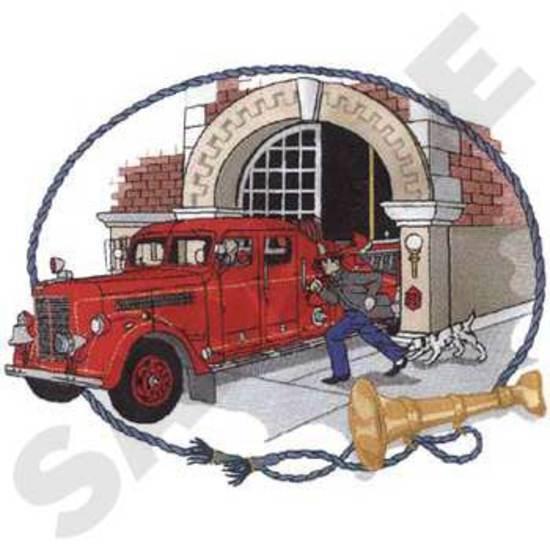 Antique Fire Scene