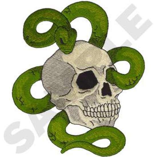 Skull W/snake