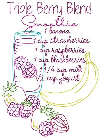 Triple Berry Blend Smoothie