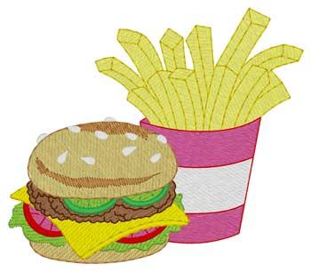 Hamburger & Fries