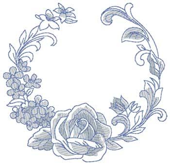 Bluework Floral Circle