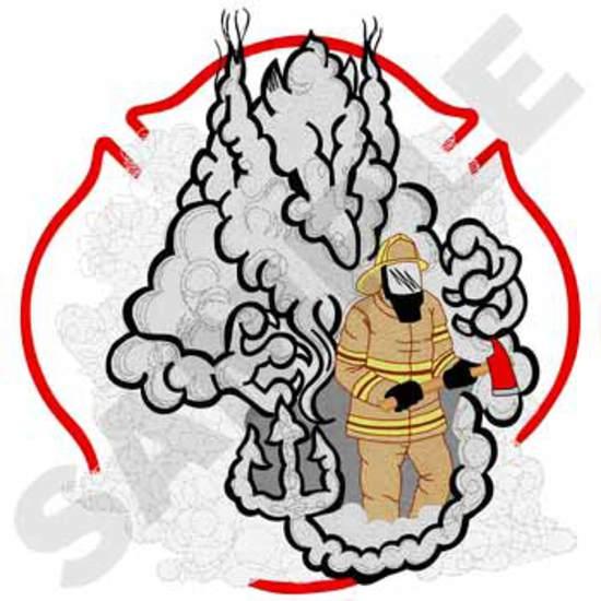 Fireman Walking Through Smoke