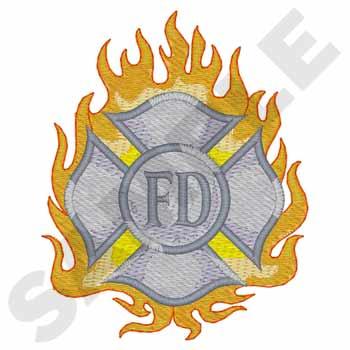 Maltese Cross W/flames