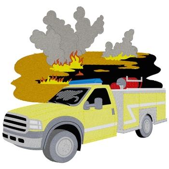 Rural Fire Truck W/scene