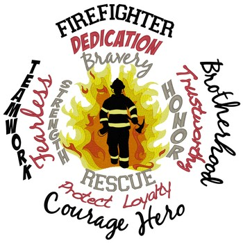 Fire Fighter Word Collage