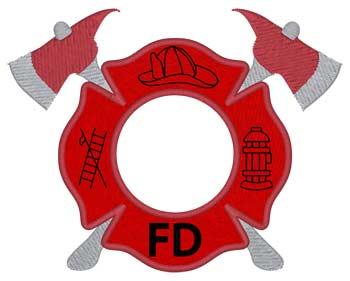 Fire Dept Monogram Drop