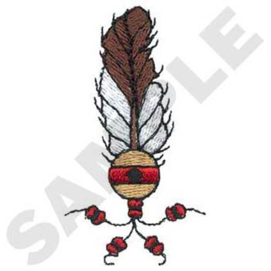 Feather W/beads