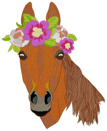 Horse W/flower Crown