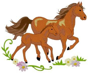 Mare & Foal Running