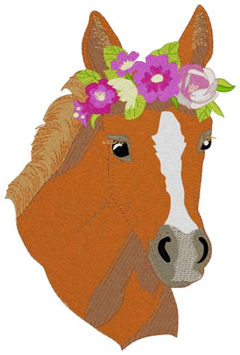 Filly W/flower Crown