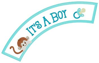 It's A Boy Applique