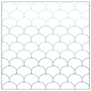 Ombre Scales Quilt Square