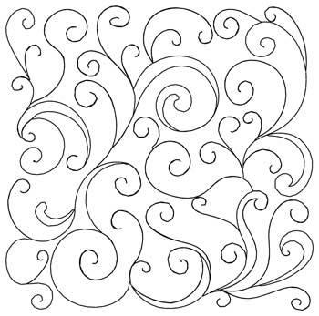 Swirls Quilt Square