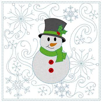 Snowman Quilt Square