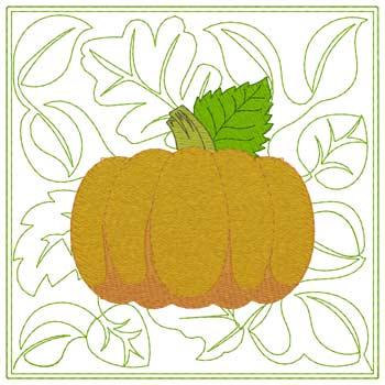 Pumpkin Quilt Square