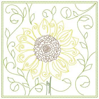 Sunflower Quilt Square