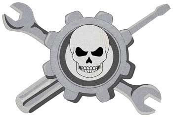 Mechanic Logo W/skull