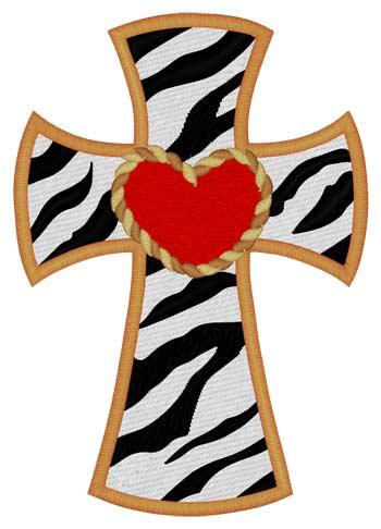 Zebra Print Cross