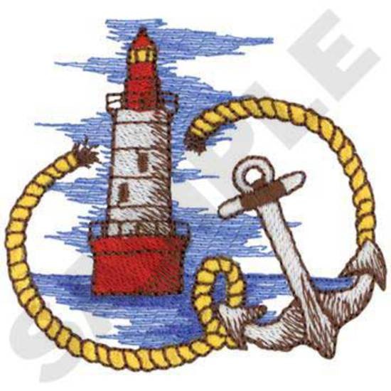 Lighthouse W/anchor & Rope