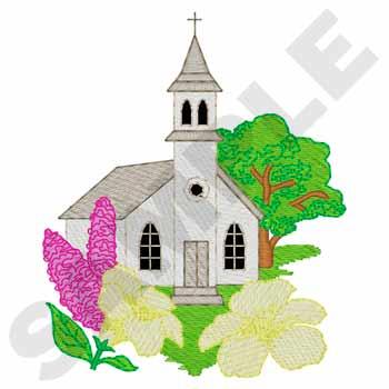 Spring Church Scene