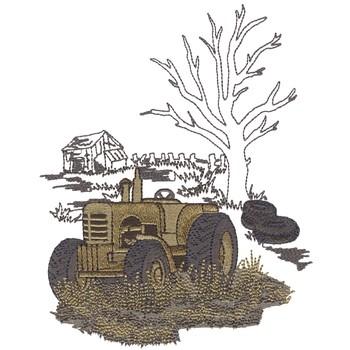 Old Tractor In Junkyard