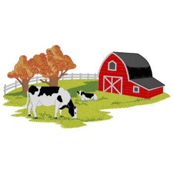 Farm Scene W/cows