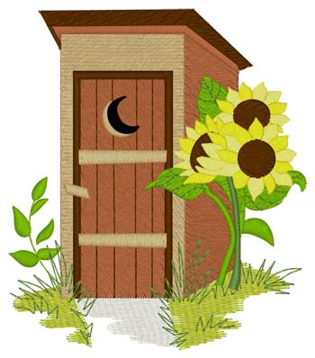 Outhouse & Sunflowers