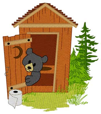 Bear In Outhouse