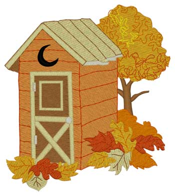 Fall Leaves Outhouse