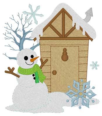 Snowman Outhouse