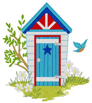 Patriotic Outhouse