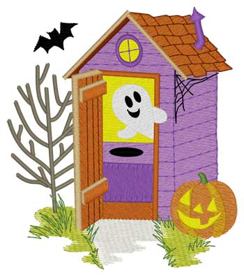 Halloween Outhouse