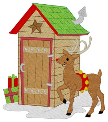 Reindeer Outhouse