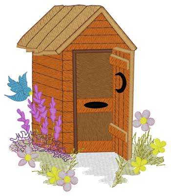 Spring Flowers Outhouse