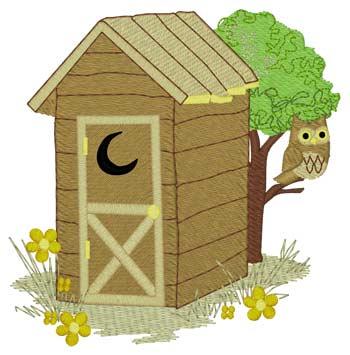 Owl W/outhouse