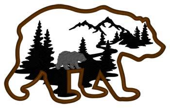 Bear & Cabin Scene