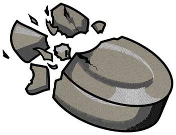 Exploding Hockey Puck